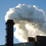 pollution being pumped out of a chimney stack