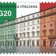 Znamka ob italijanskem predsedovanju G-20.